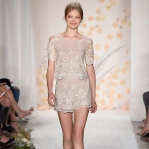 LC Lauren Conrad Runway Embroidered Top and Shorts